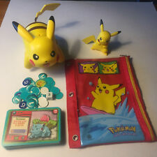 Pikachu POKEMON Tomy Nintendo Talking Disk Launcher Toy, Pencil Case, & Figurine