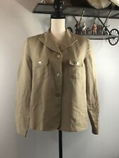 Women Khaki Blazer Top Jacket Breeches Size 6 NWT