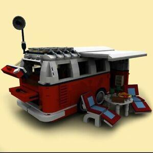 Instructions LEGO caravane pour vw combi t1 (notice uniquement)