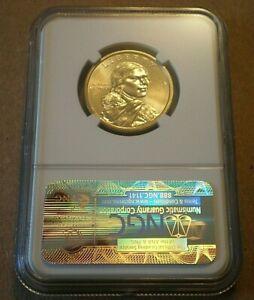 2009 Sacagawea $1 Dollar Error - Missing Edge Lettering - NGC CERTIFIED MS66 UNC