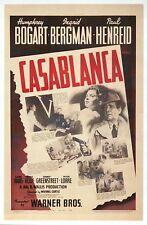 Casablanca, Movie Film Image, Ingrid Bergman Humphrey Bogart --- Modern Postcard