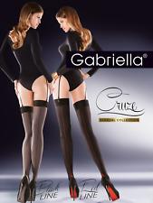 Gabriella Cruze Seamed Stockings Smoky NERO 1/2 Xs/s