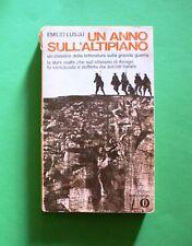 Un anno sull' altipiano - Emilio Lussu - Ed. Oscar Mondadori 1970