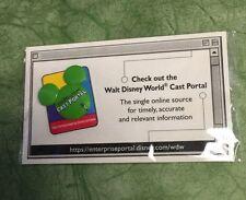 NEW! WDW 2002 Walt Disney World CAST MEMBER PORTAL Green Mickey Head Icon 3D Pin