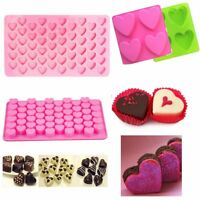 55 Heart  Silicone Cake Chocolate Cookies Baking Mould Ice Cube Soap Mold