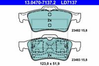 Bremsbelagsatz Scheibenbremse ATE Ceramic - ATE 13.0470-7137.2