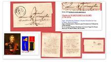 Lettre 1839 au Baron DE WARENGHIEN (1798-1874) 1° Président Cour d'Appel Douai