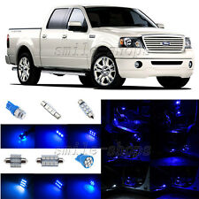 9pcs Ultra Blue LED Interior Light Package Fit For 2004-2008 Ford F-150 F150