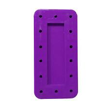 4X Neon Purple Rectangle Magnetic Dental Bur Stands Block Holder Station 14 Hole