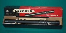 "1947 Leupold & Stevens Plainsman 7/8"" Steel 2-1/4x Rifle Scope Lyman Alaskan"