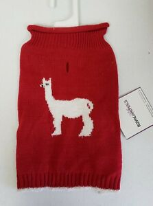 Royal Animals Dog Red Turtleneck With White Lama XS