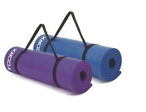 Toorx Materassino Fitness con Maniglie trasporto Tappetino Yoga 172x61x1,2/1,5cm