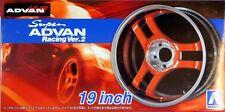 """Aoshima 1/24 Super Advan Racing Ver 2 19""""  Wheel & Tire Set for Models 5460 (69)"""