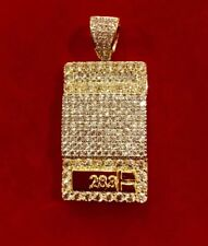 Men's 14K Gold Finish Iced Out WEIGHT SCALE DRUG DEALER 1 OZ Pendant Pc
