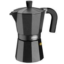 Cafetera Aluminio Monix Vitro Noir 3 Tazas Italiana