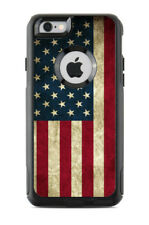 Skin Decal Wrap for Iphone 6 or 6S Otterbox Commuter Case American Flag Vintage