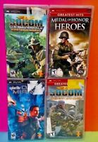 Medal of Honor SOCOM Bravo Syphon Filter  Sony PSP Playstation Portable Game Lot