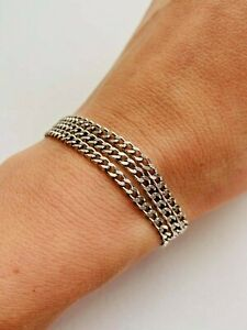 Beautiful Vintage Sterling Silver 925 Women's Bracelet Fashion Jewelry