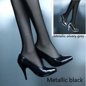 1/3SD16 GR BJD Shoes SilveryGrey / Black Metallic Luster High Heels AOD AS Noble