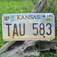Véritable Plaque D'Immatriculation KANSAS (TAU583) USA License plate