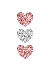 SALE TODAY ONLY Home Wall Decor Set Of Three Love Hearts Print A4
