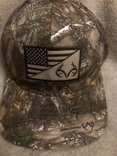 Realtree Edge Low Profile American Flag Antlers Patch Cap Hunter Outdoor