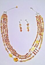 """Amber Pearl Necklace Jewelry for women 16"""" + 2"""" Extender Zilla Sterling Silver"""