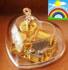 Transparent Heart Shape Ribbon Music Box : Somewhere Over the Rainbow