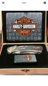 Harley Davidson Collector Set -knife, lighter and box nice gift