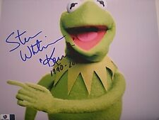 """AUTHENTIC HAND SIGNED PHOTO STEVE WHITMIRE-TOOK ROLE OF """"KERMIT"""" SESAME ST-CERT"""