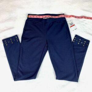New Size P Michael Kors True Navy Blue pull-on embellished Leggings NWT MSRP $88