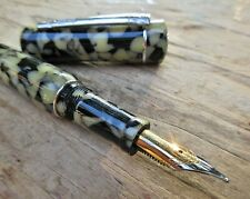 New Laban Terrazzo Marble Fountain Pen BROAD Nib