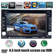 6.5'' Touch Screen HD Car Radio FM Bluetooth DVD player 2 DIN USB/SD/EQ/TV/AV IN