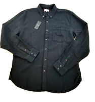 new JOE'S COLLECTION men shirt long sleeve black L MSRP $138