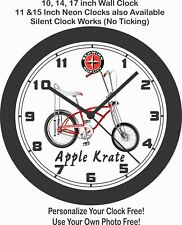 SCHWINN APPLE KRATE STINGRAY BICYCLE WALL CLOCK-FREE USA SHIP!