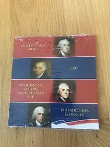 2007 US Mint Uncirculated Presidential Dollar Coin Set - Philadelphia and Denver