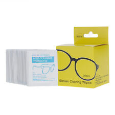 Pre-Moistened Lens Cloth Wipes 60 Ct Glasses Camera Phone LCD PC Screen Cleaning