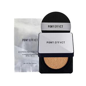 PONY EFFECT  Hyper Protection Cushion Foundation SPF50+/PA++++15g*2ea K-Beauty