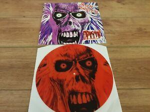 IRON MAIDEN -  1ST ALBUM DEMO -  RARE 4 TRACK NO'D RED PICTURE DISC LP MINT !!!