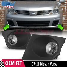 For Nissan Versa 07-11 Factory Bumper Replacement Fit Fog Lights Clear Lens