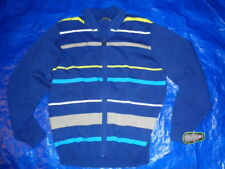 Pga Pro Series Golf Zip Front Cardigan Sweater Striped Blue New Size Xl $80