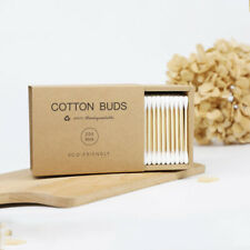 Head Bamboo Cotton Swabs Disposable Cotton Buds Wood Sticks for Beauty Makeup Ea