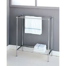 Bathroom Rack Towel Organizer Unit Free Stand Bath Storage Shelf 3 Bars Metal