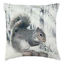 Clayre & Eef Pillow With Filling Squirrel Winter Nostalgia 40 40cm
