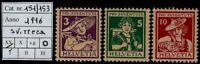 Svizzera - 1916 - Pro Juventute - nuova MNH - Unificato nn.151/153