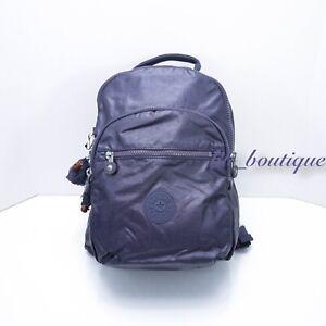 "NWT Kipling BP4367 Seoul Small 11"" Laptop Backpack Metallic Enchanted Purple"