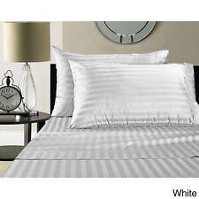 1000 Thread Count California King White Stripe Sheet Set Egyptian Cotton New