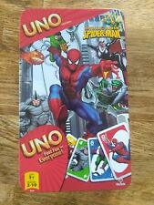 UNO Spider-Man Card Game Spider Sense Edition COMPLETE Ages 5+ Collectors Tin