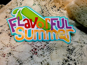 Flavorful Summer Title paper piecing Premade Scrapbook Pages