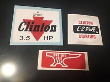 Clinton engine decal set  4 Cycle 3.5-hp E-Z Pull Anvil Set 3